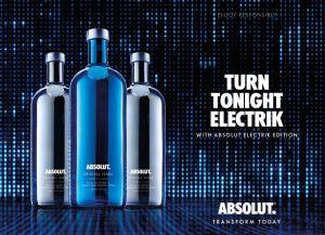 Vodka Absolut Electrik Prata 1000 ml