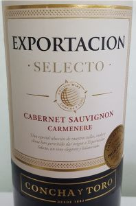 Vinho Concha Y Toro Exportacion Cabernet Sauvignon Carmenere 750 ml