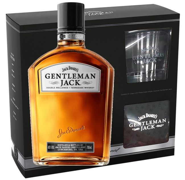 Kit Gentleman Jack com Copo + Porta Copo 1000 ml