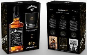 Whisky Jack Daniels 1000 ml com 01 Copo e 01 Poster - Kit Comemorativo 150 Anos