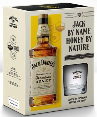 Kit Jack Daniels Honey com Copo 1000 ml
