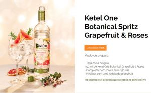Ketel One Botanical Grapefruit e Rose 750 ml