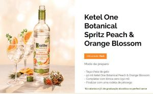 Ketel One Botanical Peach e Orange Blossom 750 ml