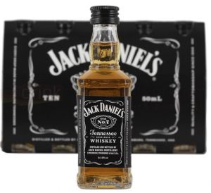 Kit 10 Miniatura Jack Daniels 50 ml