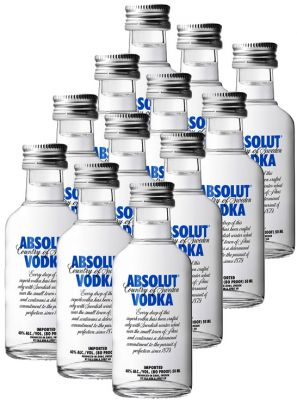 Kit 12 Miniatura Absolut 50 ml