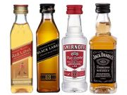 Kit 4 Miniaturas Red Black Smirnoff Jack 50ml