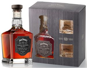 Kit Whisky Jack Daniels Single Barrel c/ 2 Copos 750 ml