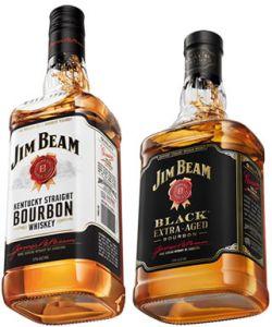 Kit Whisky Jim Beam Original + Black Bourbon Extra Aged