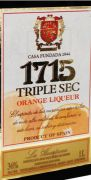 Licor 1715 Triple Sec Orange 1000 ml