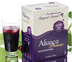 Pack 4 Sucos de Uva Aliança Premier 3 Litros