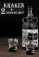 Kit Rum Kraken + 2 copos Shot 750 ml