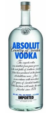 Vodka Absolut 4,5 Litros