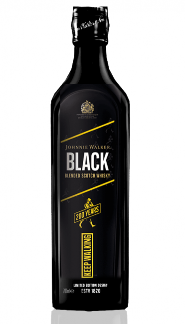 Whisky Johnnie Walker Black 200 anos Limited Edition 1000 ml