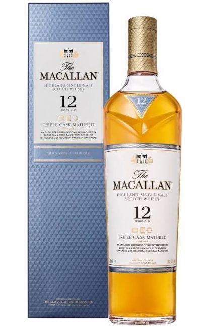 Whisky The Macallan 12 anos - Fine Oak - Triple Cask Matured 700 ml